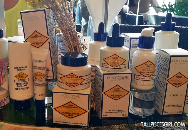 Guests can also feel free to try out all the L'occitane products displayed here