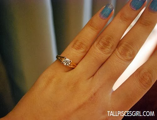 And this is the first time I wore a 1 carat diamond ring!