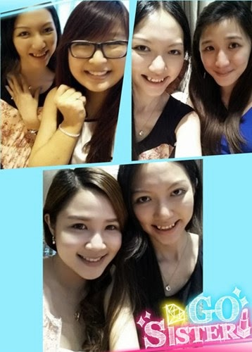 With the girls: Jessica, Yienyee and Povy!