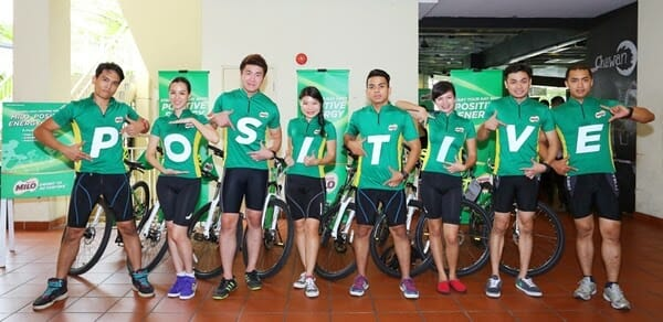 The MILO Positive Energy Squad  makes an appearance at the MILO Malaysia Breakfast Day launch