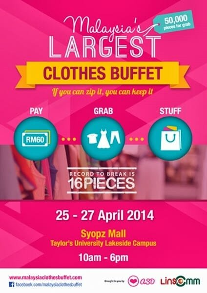 Poster | Malaysia Clothes Buffet 2014