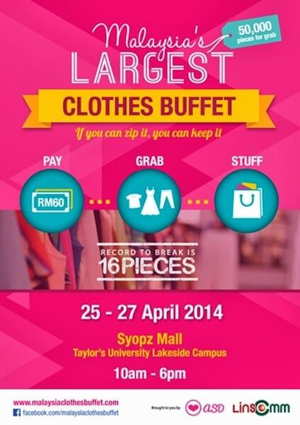 Malaysia Clothes Buffet 2014