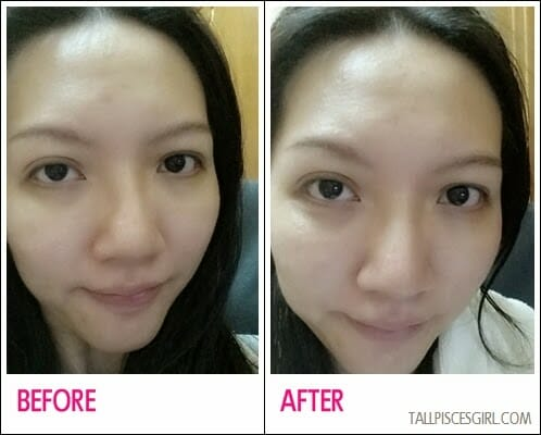 Before vs. After KOSÉ SEKKISEI Lotion Mask