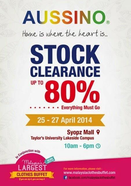 Aussino Stock Clearance | Aussino Stock Clearance Sale @ Syopz Mall