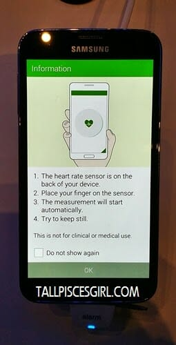 Samsung Galaxy S5 - Heart rate monitor