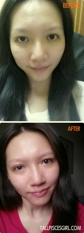 Before and After 3 Weeks Usage of Shizens Time Resistance Essence