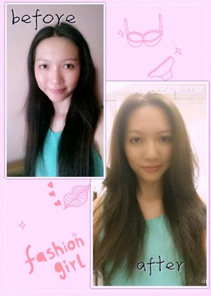 Before & After Hair Makeover on Tallpiscesgirl