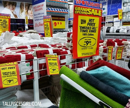 Towel at only RM 9.99! This is one of the things I bought at Spotlight!
