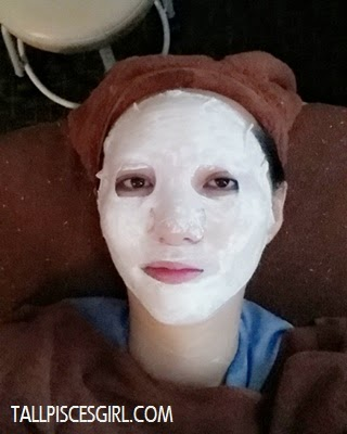 Last but not least, applied mask to replenish the nutrient and sooth the skin