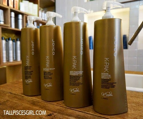 Products used in JOICO K-Pak 4 Step System treatment