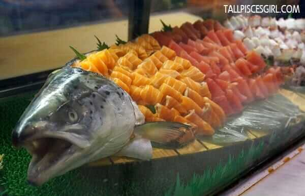 Salmon, Tuna and Octopus Sashimi