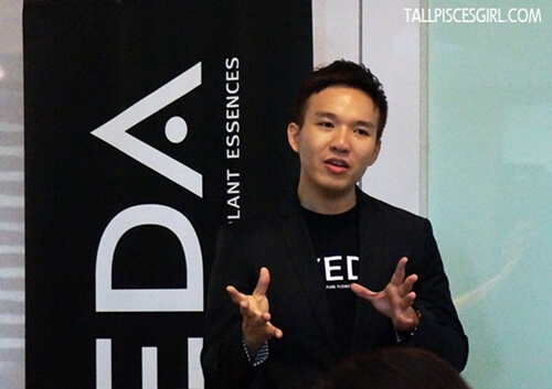 Ian Hong, Product Manager of Aveda Malaysia explains the concept behind Aveda