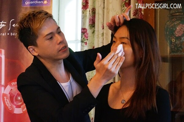 Noir, a makeup artist that has worked for many big brands also showed us how he used O'slee Rosehip Beauty Solution Ruby Toner as makeup base