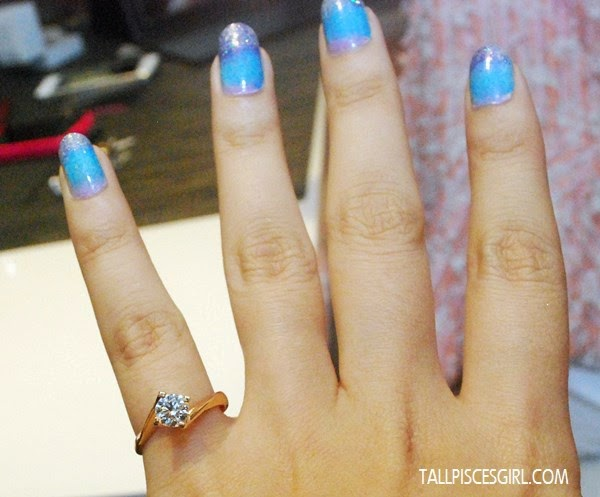 Trying on diamond ring @ SUEN Jewellers