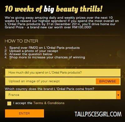 L'Oreal Paris Beauty Countdown Contest 1