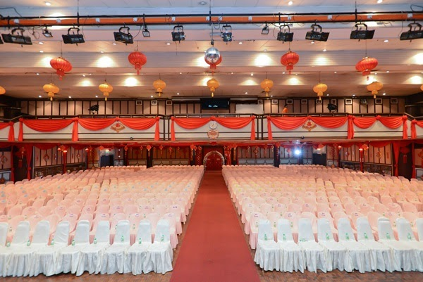 Inside the ceremony hall @ Thean Hou Temple