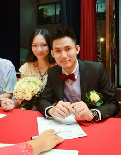 So this is our first photo as husband and wife ♥