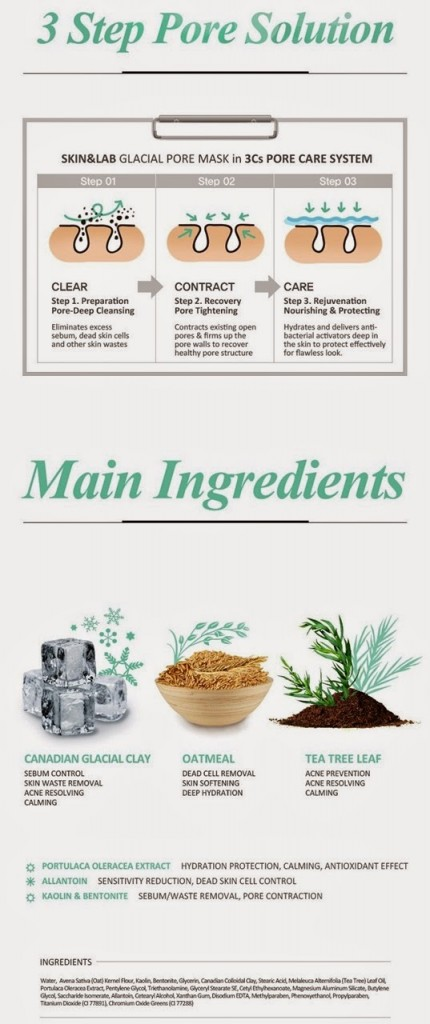 Ingredients of Dr. Pore Tightening Glacial Clay Facial Mask