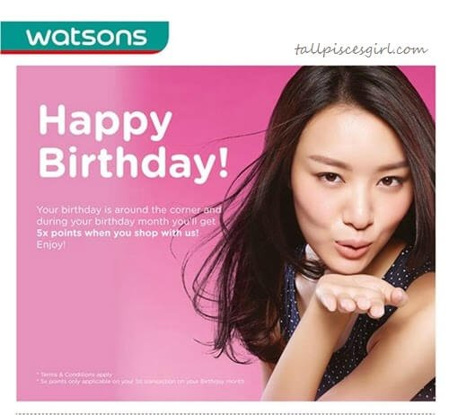Watsons Malaysia birthday special