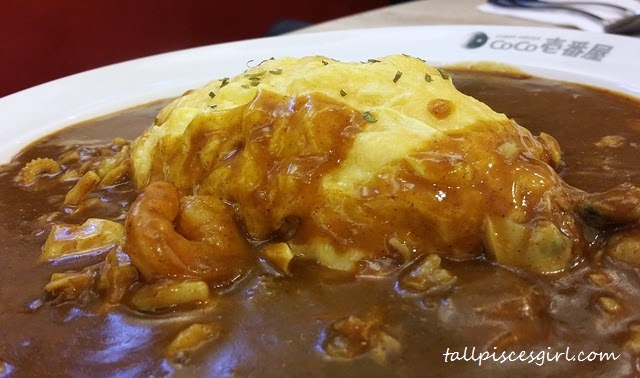 CoCo Ichibanya - Seafood Omelette Curry (Price: RM 26)