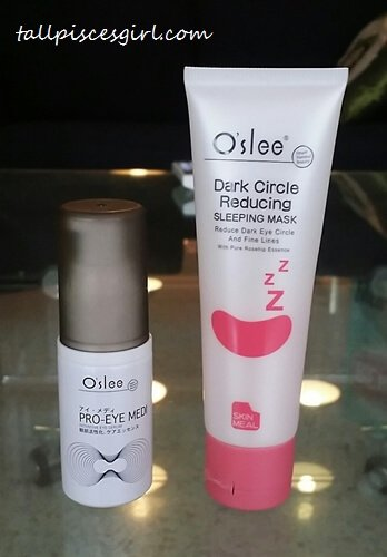 Oslee Pro Eye Medi Intensive Eye Serum and Oslee Dark Circle Reducing Eye Care Sleeping Mask - Review: O'slee Pro Eye Medi Intensive Eye Serum & O'slee Dark Circle Reducing Eye Care Sleeping Mask
