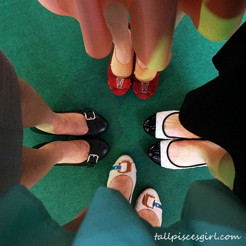 Four pairs of happy feet!