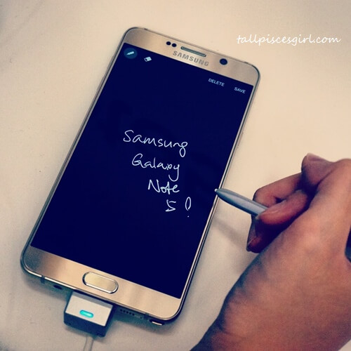 Samsung Galaxy Note 5 - Screen off memo function