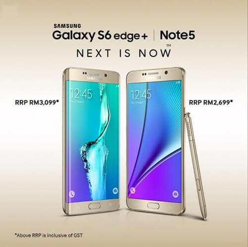 Samsung Galaxy Note5 & Samsung Galaxy S6 Edge+ Price