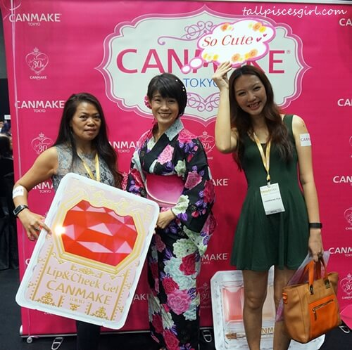With Anastasia Doping from Rentak Sejuta and Kaori Anzai-san, Overseas Assistant Sales Manager of CANMAKE TOKYO