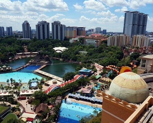 Overseeing the whole Sunway Lagoon!