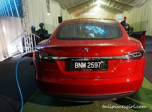 Tesla Model S 85 Back View
