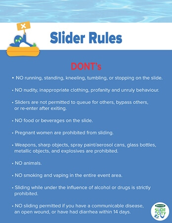 Slide the City Malaysia - Slider Don'ts