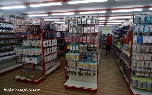 Neatly arranged products and easy to navigate store