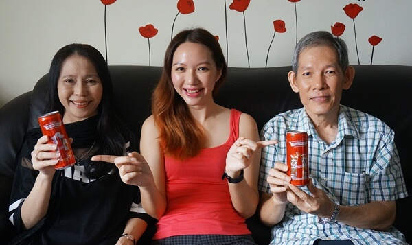Not forgetting my parents too! One Coca-Cola for each of them!