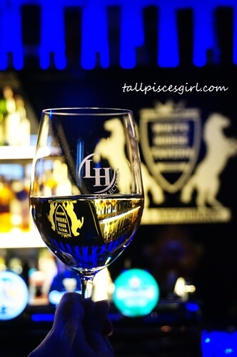 Chilling with White Horse Tavern's house white wine