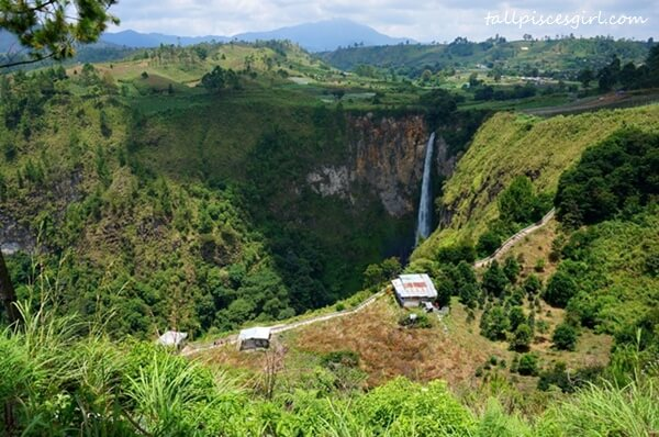 Our first view of Sipiso-piso Waterfall (Air Terjun Sipiso-piso)