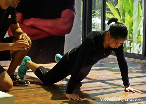 Fitness guru, Dave Nuku and his assistant showing some exercise routines that even beginners can follow during #The21DayMission