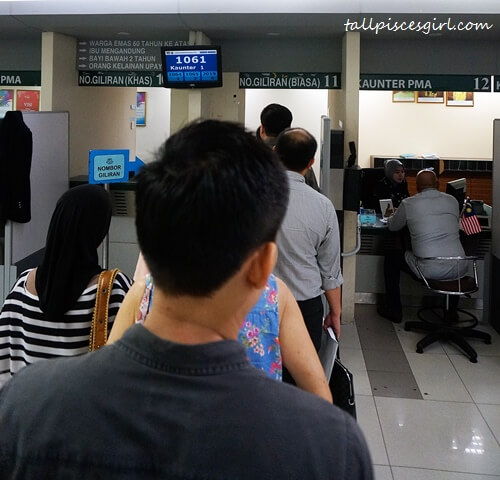Renew Passport in Malaysia - Queuing for Number