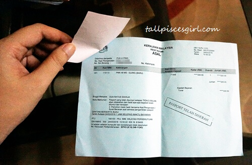 Renew Malaysian Passport - Receipt for Collection