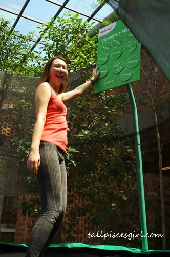 Jumping on a trampoline! It's so fun! :D