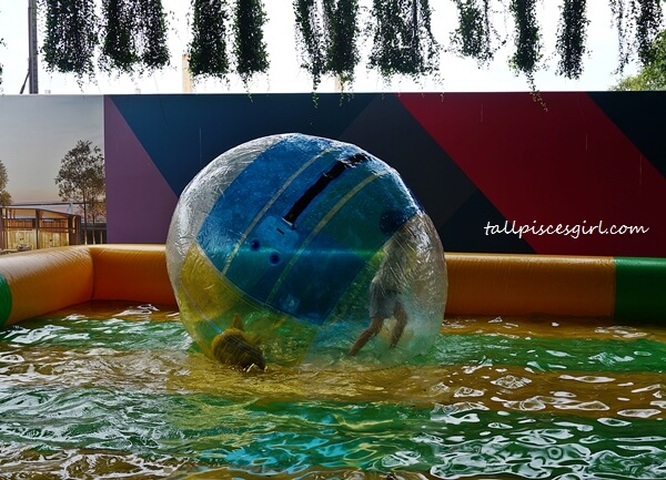 There's water zorb ball for kids too!