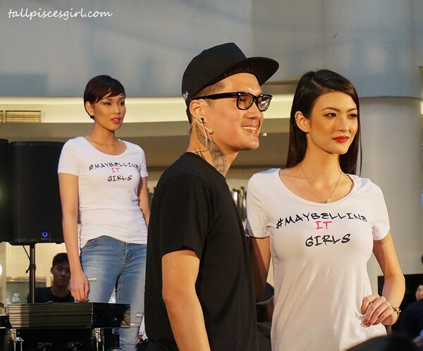StevenSunny & Asia's Next Top Model 4 finalist, Angie Tan (Singapore) for Make It Vivid look
