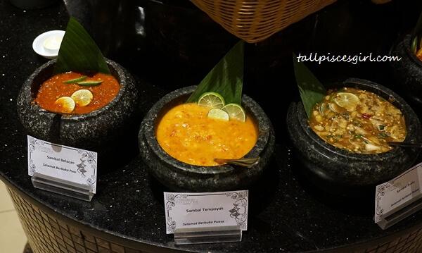 Assorted Sambal (Belacan, Tempoyak, Cencaluk, Nenas, Mangga)