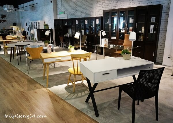 Work desks and office chairs