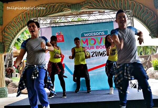 Getting a feel of how Zumba is: It's a fun way to get a full body workout!