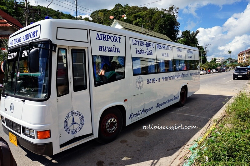 Cheapest Transport from Krabi Airport to Ao Nang - Official Bus Service