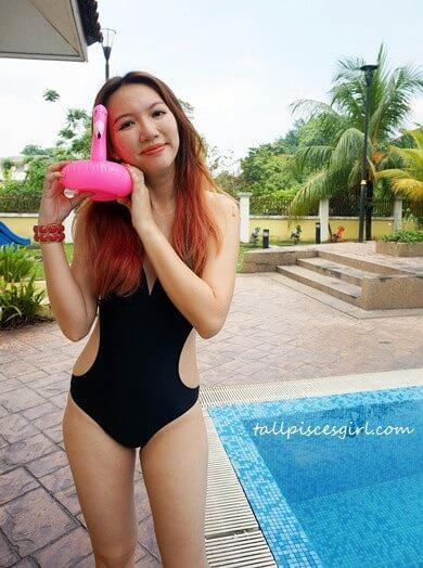 Cute Pink N' Proper Pink Flamingo Drink Holder Float