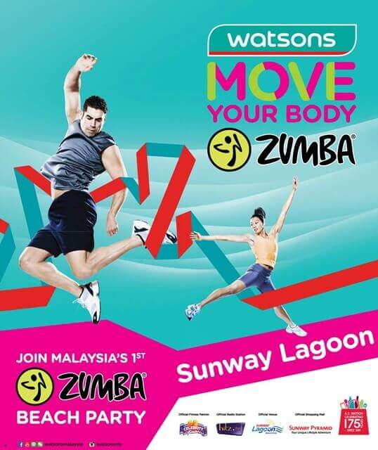 Watsons Move Your Body Zumba Beach Party @ Sunway Surf Beach