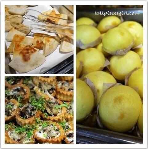 Cheese Naan, Mini Mushroom Pies, Lau Sar Pao