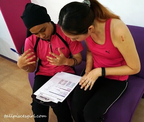 Detailed explanation by Curves' Fitness Instructor